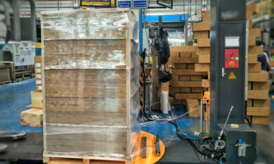 stretch wrap pallets for green building